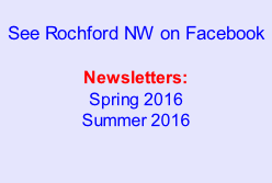See Rochford NW on Facebook  Newsletters: Spring 2016 Summer 2016