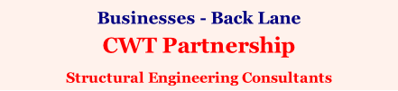 Businesses - Back Lane CWT Partnership Structural Engineering Consultants