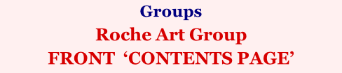 Groups Roche Art Group FRONT  'CONTENTS PAGE'
