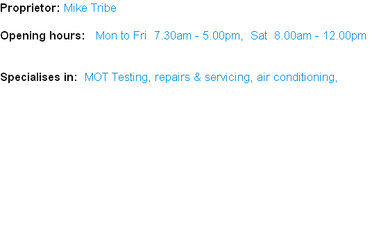 Proprietor: Mike Tribe
